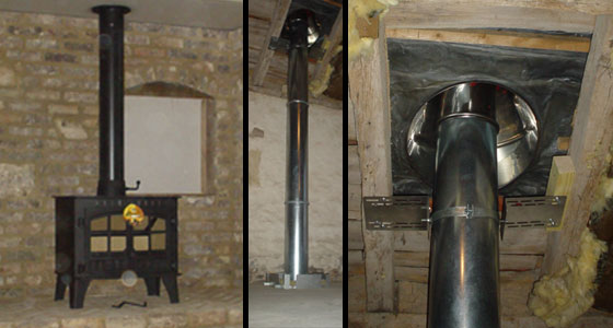 Stove sellers testimonials - wood burner and flue plus chimney installation