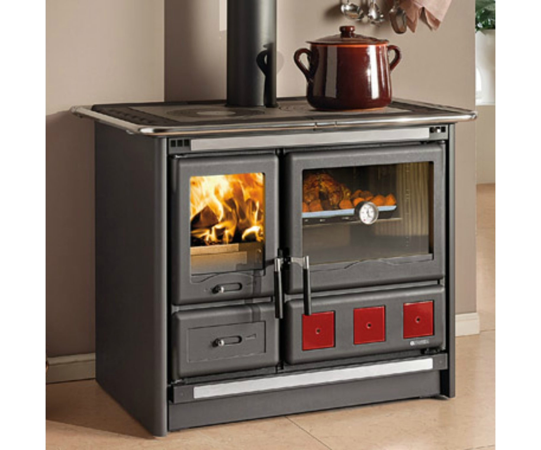 La nordica rosa xxl wood burning cooker at stove sellers - Aga cucine prezzi ...