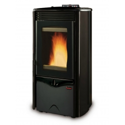 Contemporary Wood Stove Duchessa Idro Steel