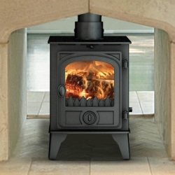 Wood Burning Stoves Hunter Hawk 4 Double Sided Stove