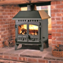 Wood Burning Stoves Hunter Herald 14 Double Sided