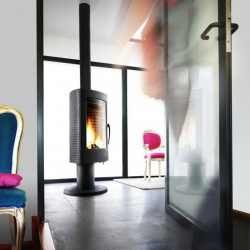Contemporary Wood Stove Invicta Pharos