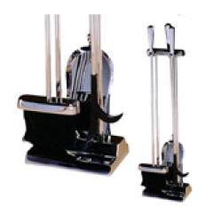 Double Sided Stoves Companion Set - 3 piece chrome tools