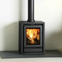 Contemporary Wood Stove Stovax F40 Freestanding