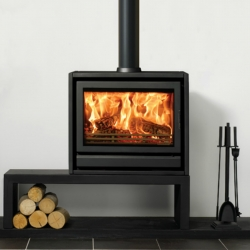 Contemporary Wood Stove Stovax Riva F76 Freestanding