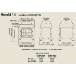 Double Sided Stoves Hunter Herald 14 Double Sided
