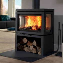 Contemporary Wood Stove Vidar Triple