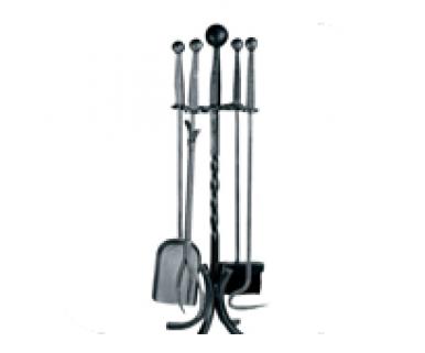 Companion Set, Wrought Iron - 4 piece ball top