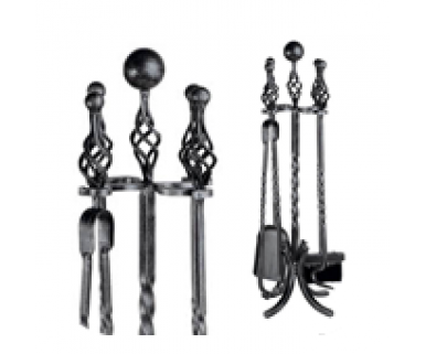 Wrought Iron - 4 piece ball and twist top