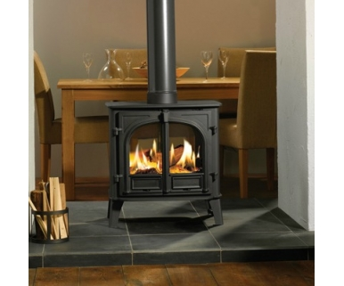 Stovax stockton 8 double sided multi fuel wood burning for Poele a bois central double face